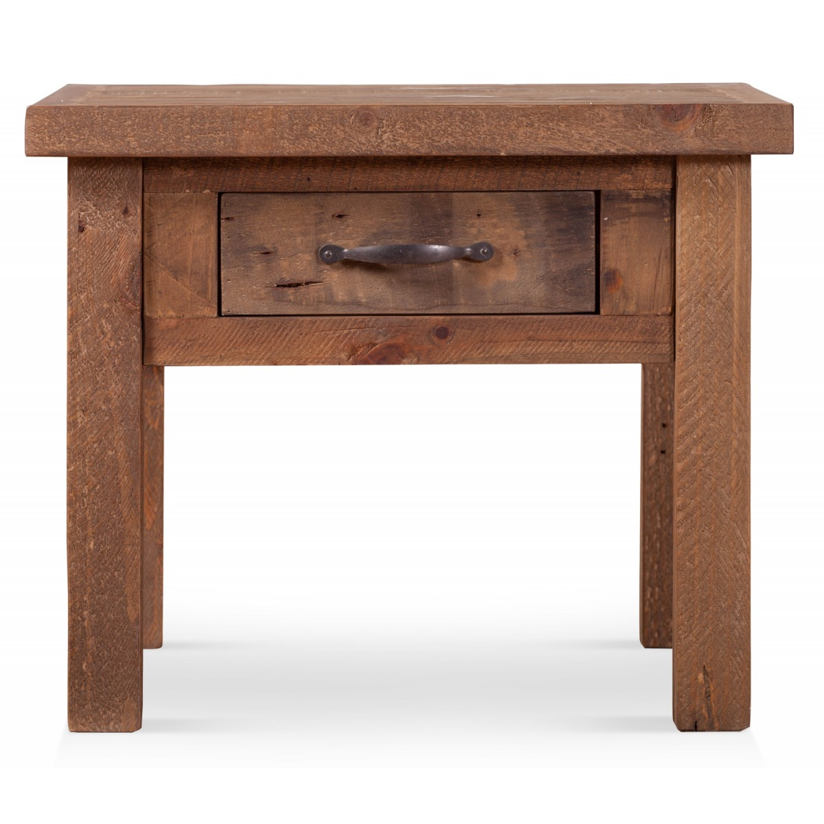 Table de chevet 1 Tiroir Bois Marron 60x60x50cm