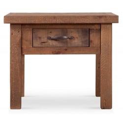 Table de chevet 1 Tiroir Bois Marron 60x60x50cm