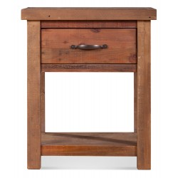 Table de chevet 1 Tiroir Bois Marron 50x45x60cm