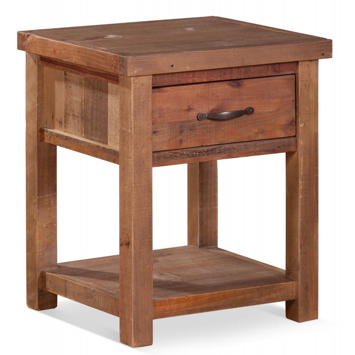 Table de chevet 1 Tiroir Bois Marron 50x45x60cm