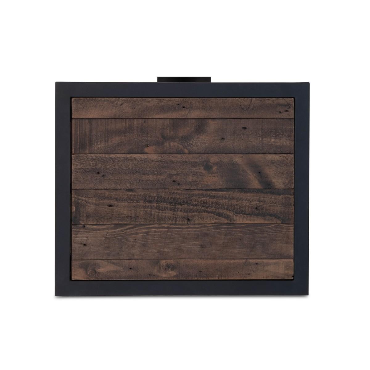 Table de chevet 1 Tiroir Bois Métal Marron 50x42x69.5cm