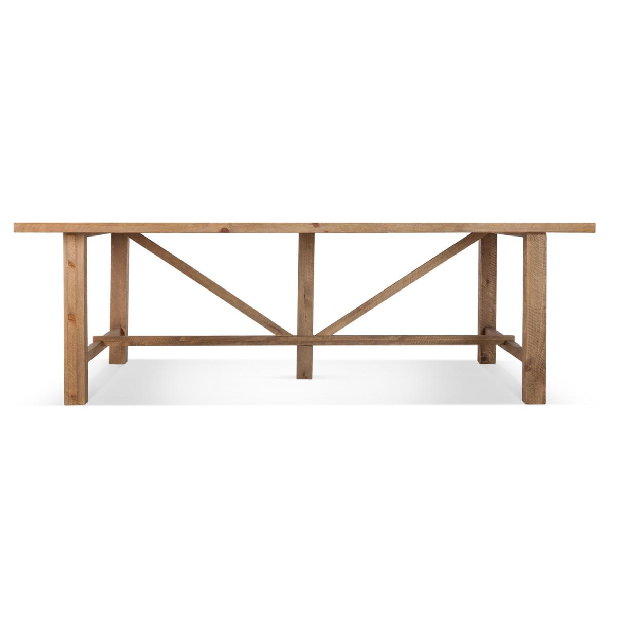 Table à manger Bois Marron 250x150x78.5cm