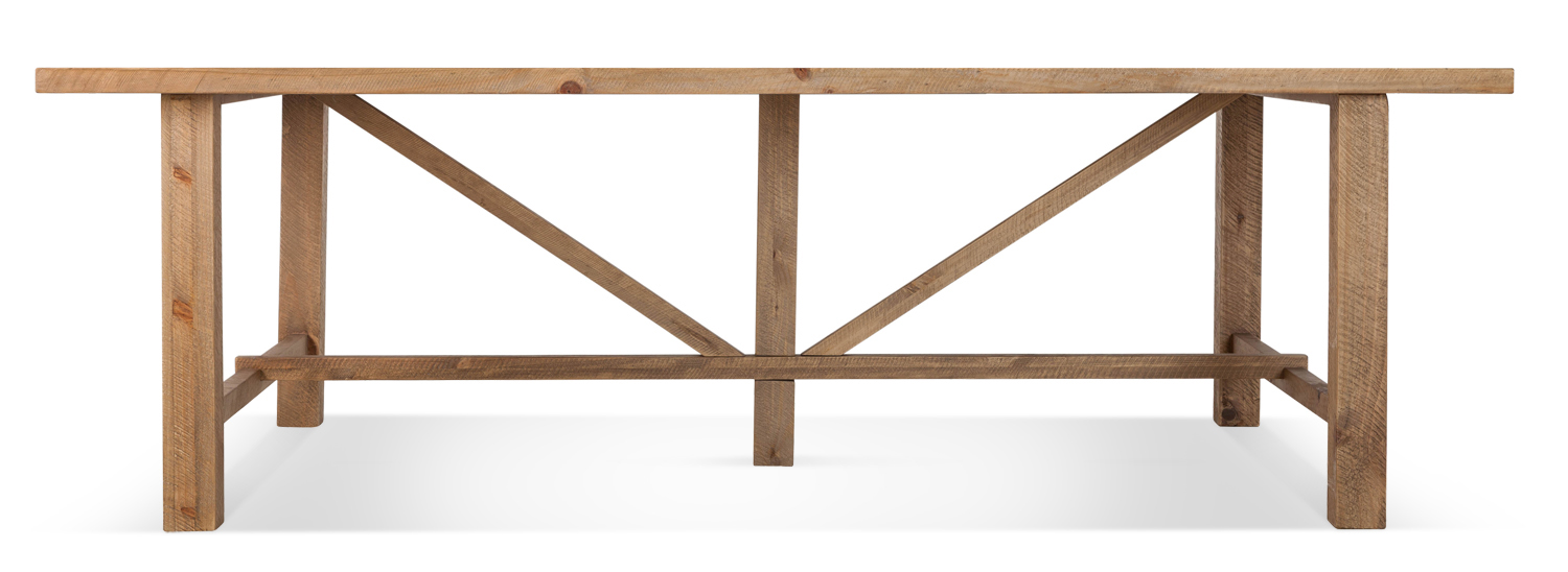 Table à manger Bois Marron 250x150x78.5cm