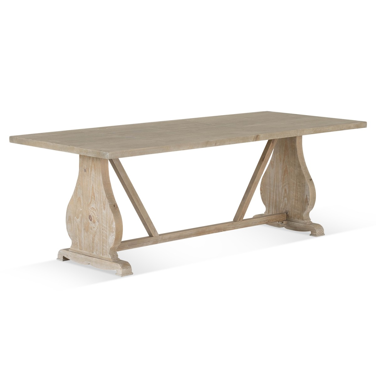 Table à manger Bois Marron 230x100x76cm