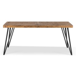 Table à manger Bois Métal Marron 180x90x76cm