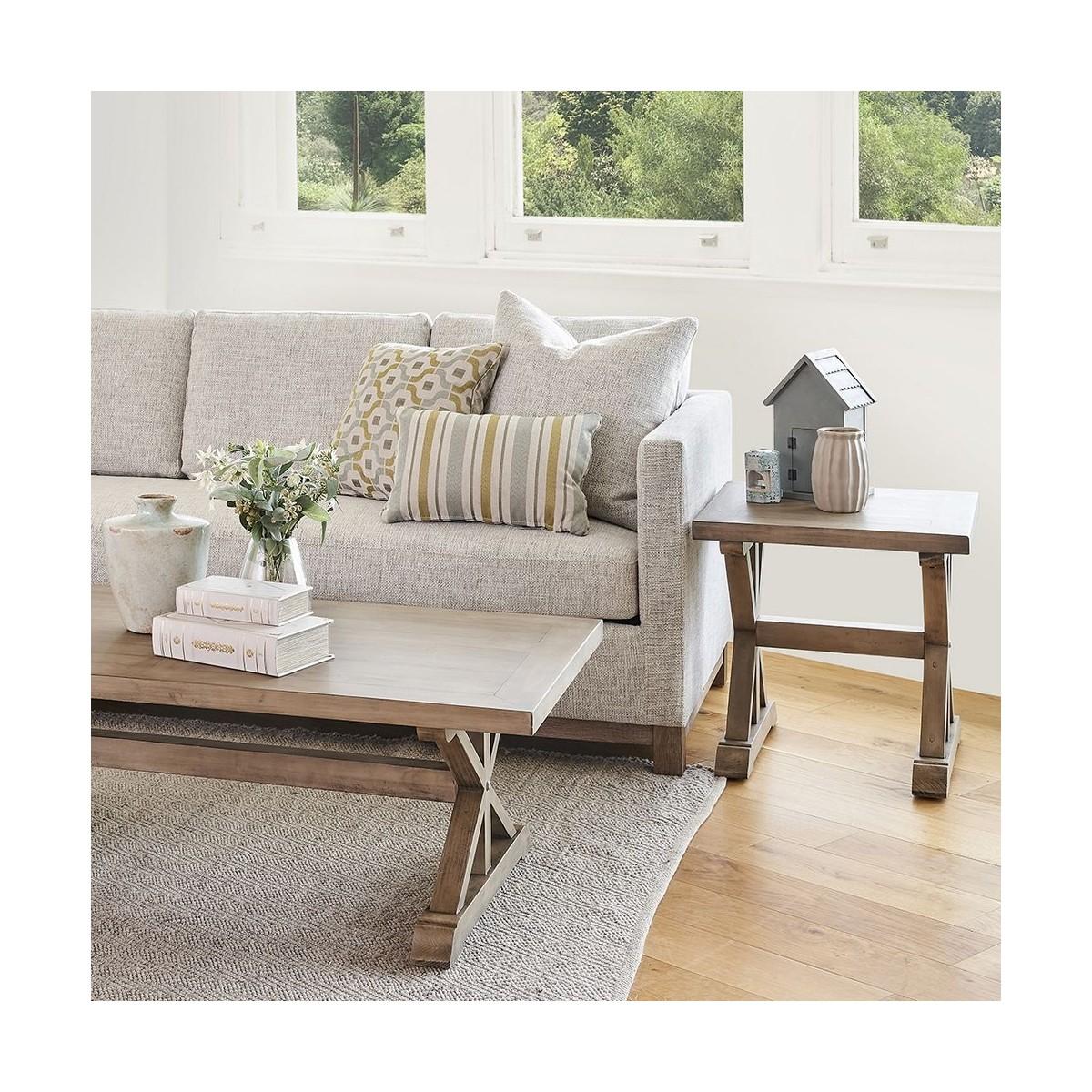 Table de chevet Bois Marron 55x55x55cm
