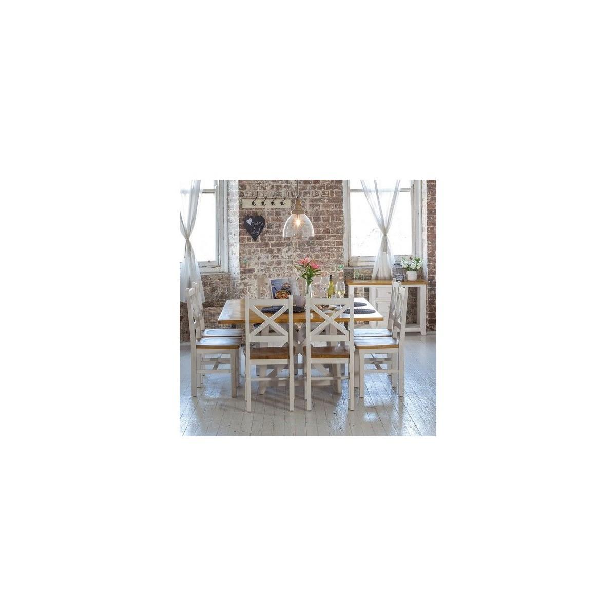 Chaise Bois Blanc 47x46.5x102cm