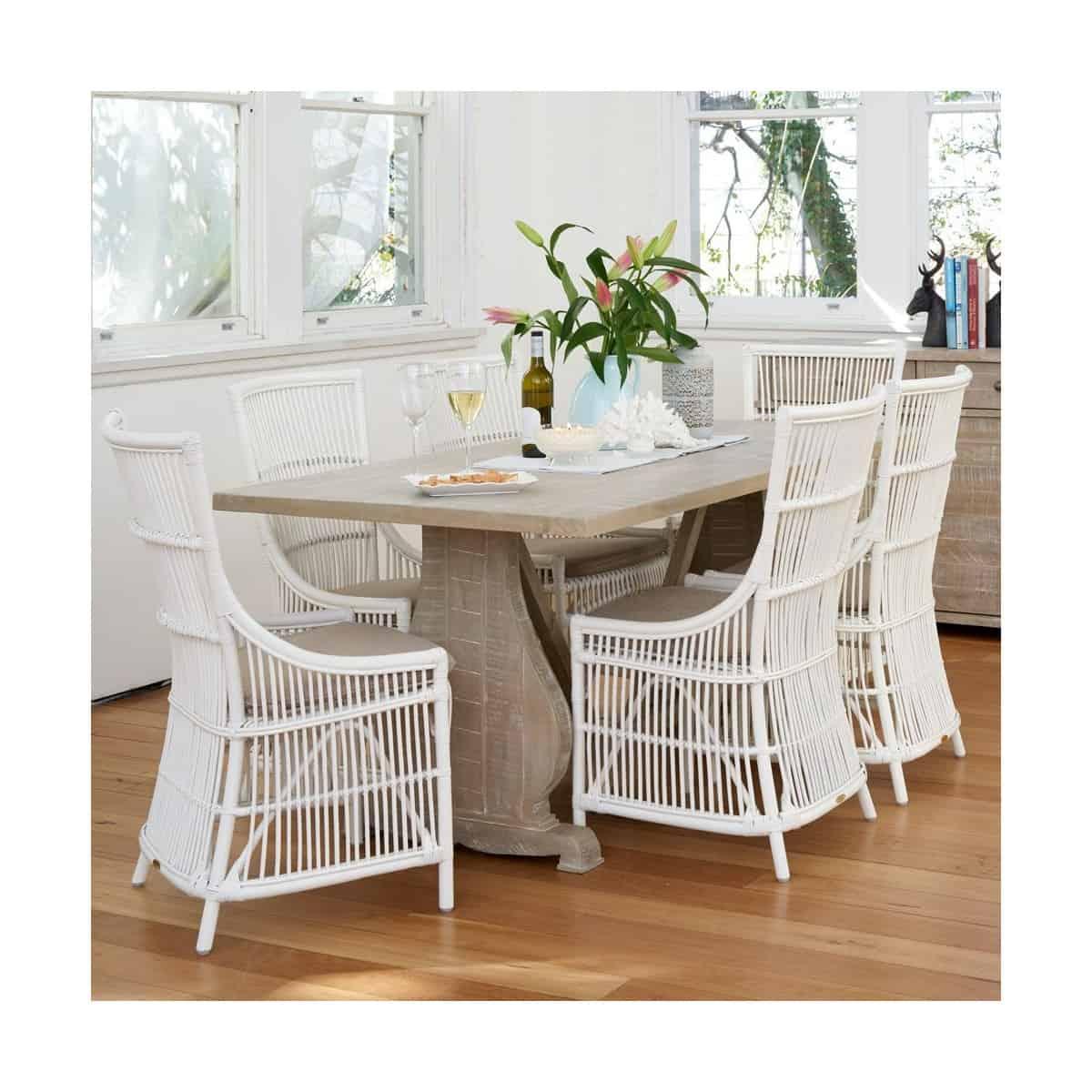 Table à manger Bois Marron 180x90x76cm