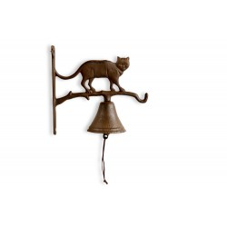 Cloche Chat Fonte Marron 22x9.5x20.5cm