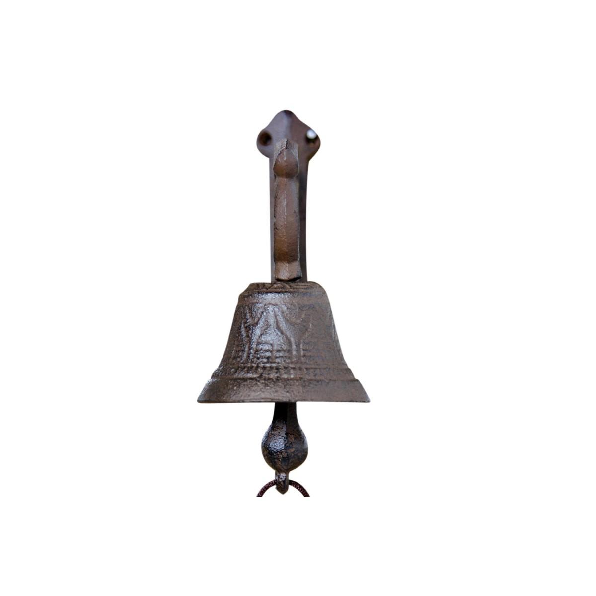 Cloche Fonte Marron 15x7.5x18cm