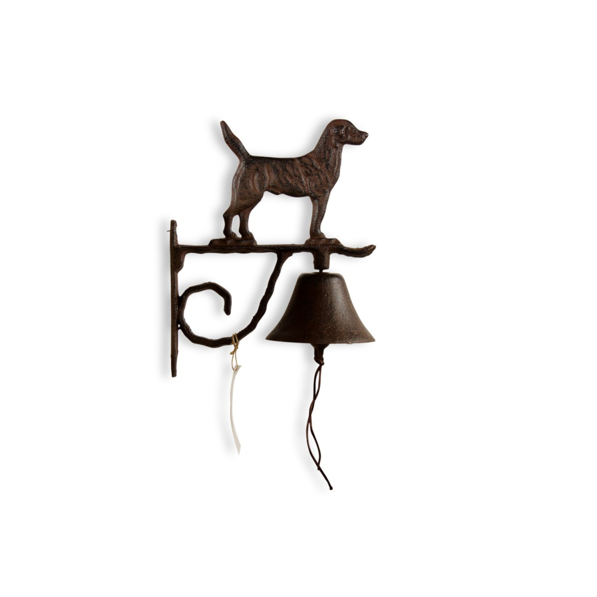 Cloche Chien Fonte Marron 21x11x26cm