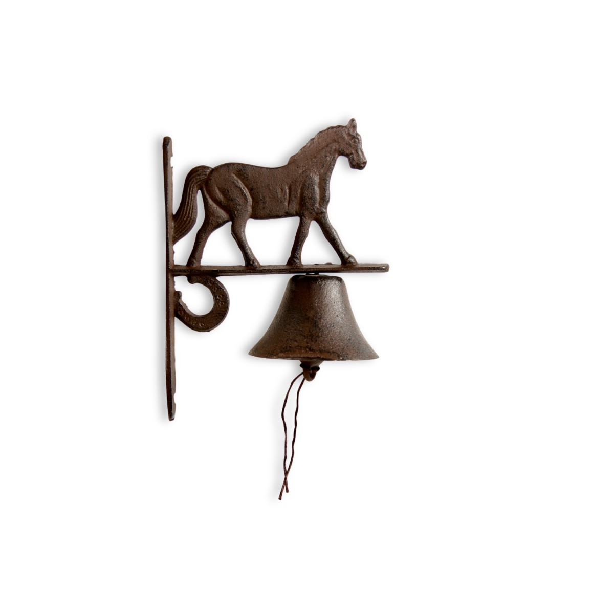 Cloche Cheval Fonte Marron 19x11x25cm
