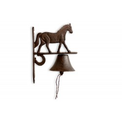 Cloche Cheval Fonte Marron...