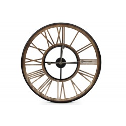 Grande Horloge Ancienne Fer Forge Marron 60x3x60cm