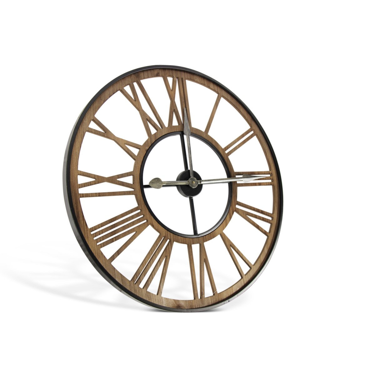 Grande Horloge Ancienne Fer Forge Marron 80x4x80cm