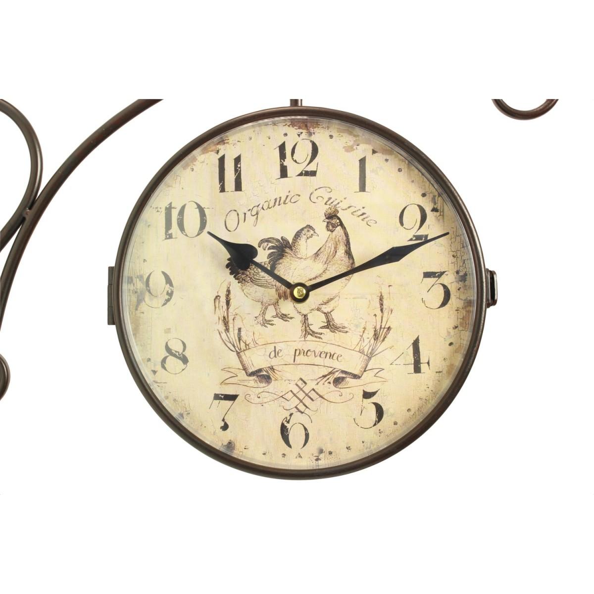Horloge De Gare Ancienne Double Face Organic Cuisine 24cm