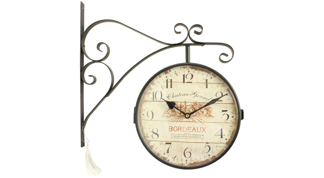 Horloge De Gare Ancienne Double Face Château Grand Bordeaux 24cm