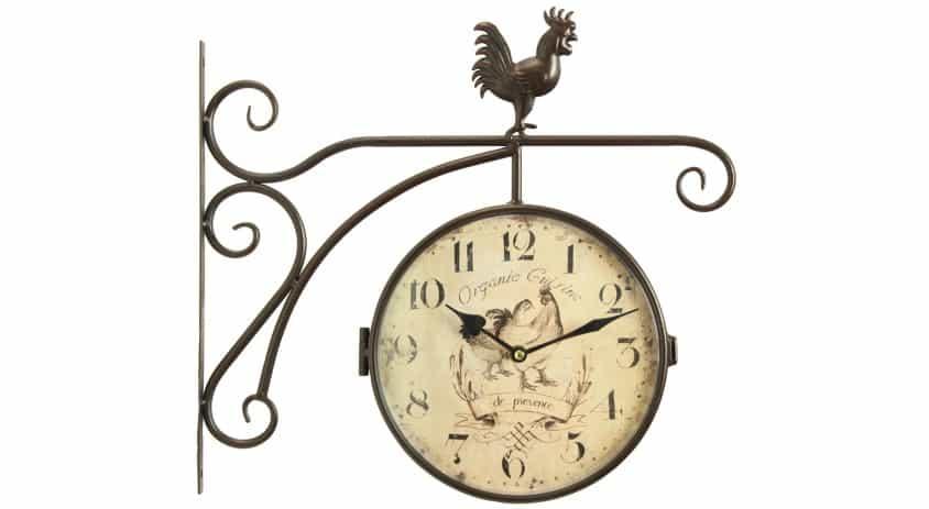 Horloge De Gare Ancienne Double Face Organic Cuisine 15cm