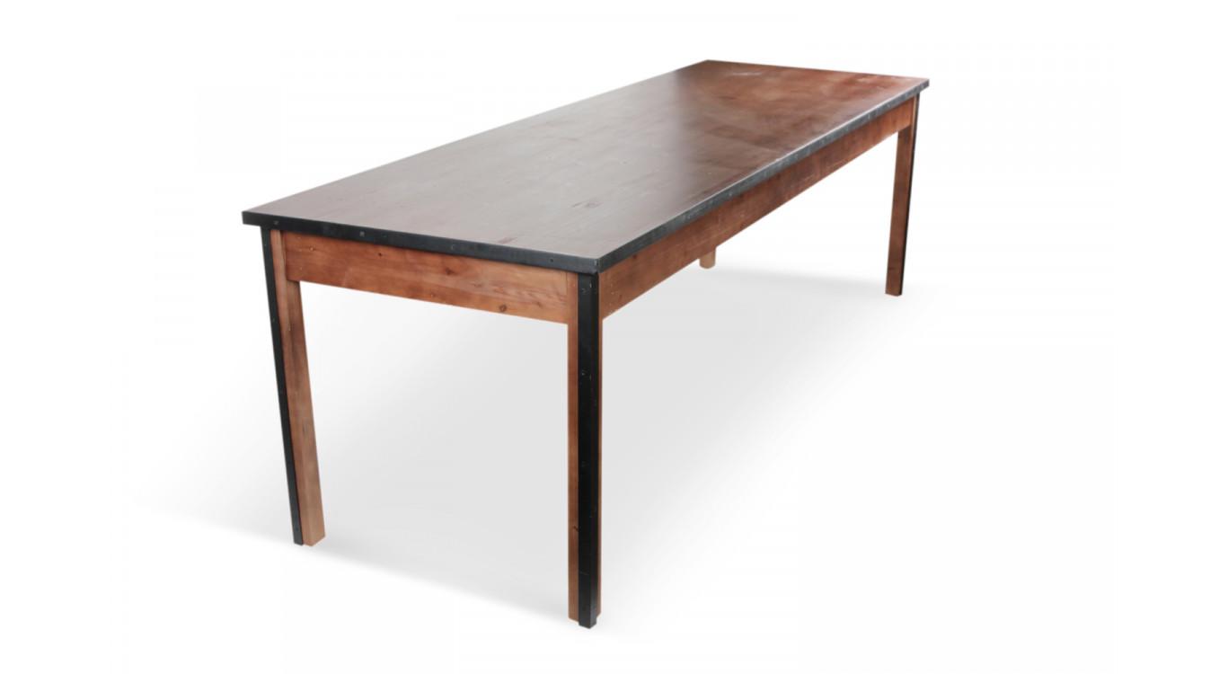 Table à manger Bois Marron 244,5x80,5x76,5cm