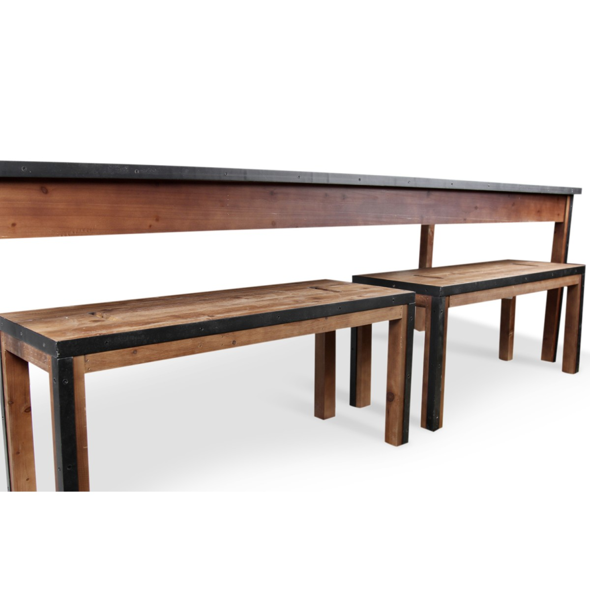 Table à manger Bois Marron 244,5x80,5x76,5cm