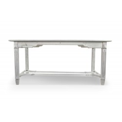 Table Bois Cerusé Blanc 180x90.5x81.5cm