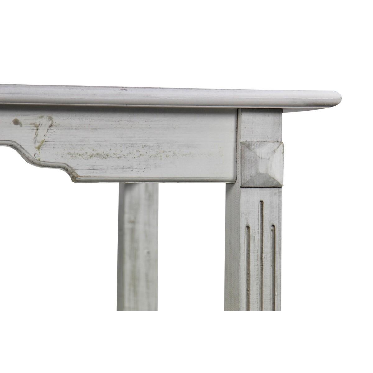 Table Bois Cerusé Blanc 180x90.5x81.5cm