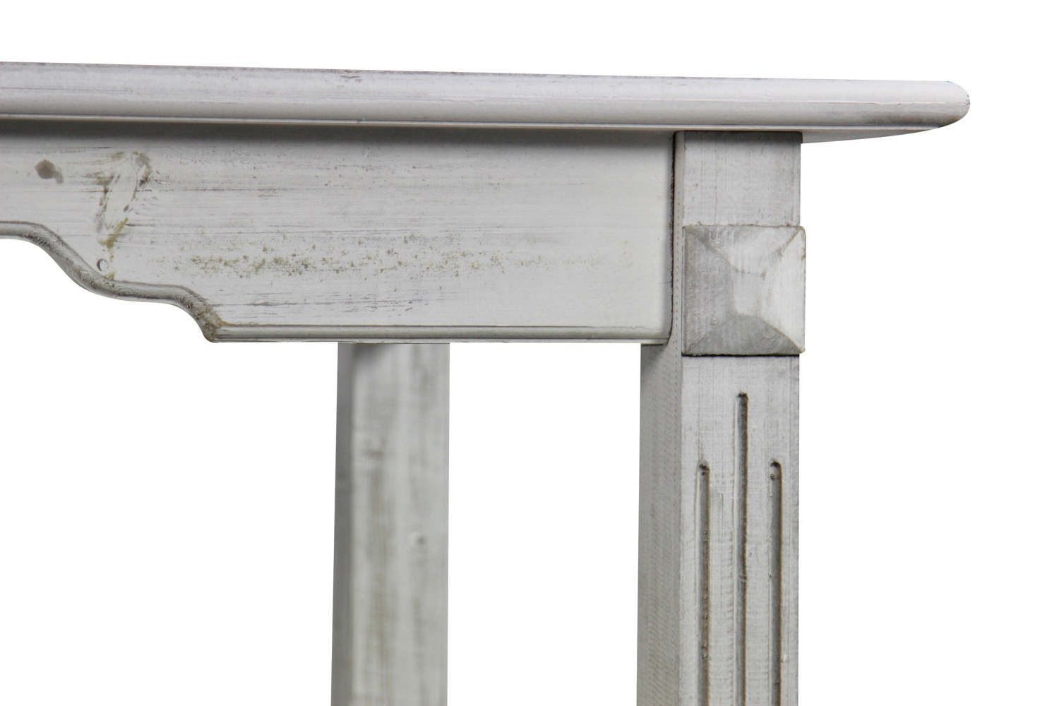 TABLE BOIS CERUSE BLANC 180x905x815cm