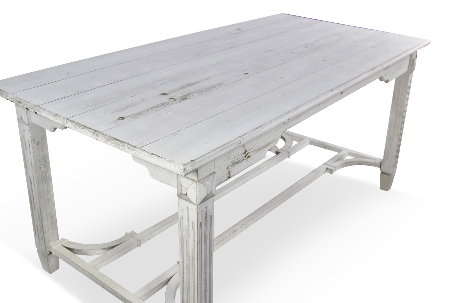 Table bois ceruse blanc for Salle a manger ceruse rose