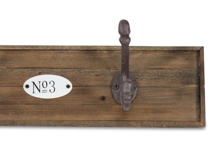 Patere portemanteau bois 4 accroches for Decoration porte bois