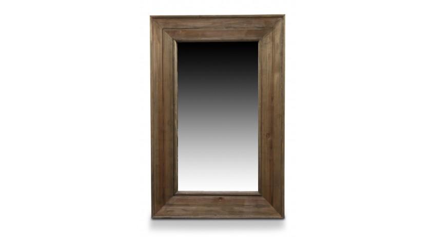 Miroir Ancien Rectangulaire Vertical Bois 64.5x5.5x99cm