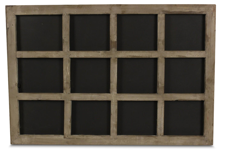 TABLEAU ARDOISE BOIS 12 COMPARTIMENTS 63x2x43cm