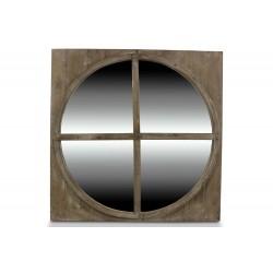 MIROIR ROND BOIS 79.5x79.5x3.5cm