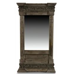 Miroir Ancien Rectangulaire Vertical Bois 42x10x75cm