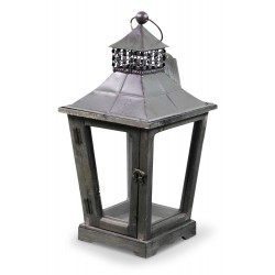 Lanterne Bois 22x22x43.5cm