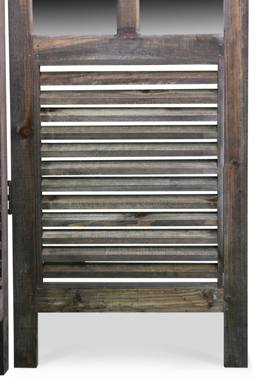 paravent miroir ancien bois 3 panneaux 126x2x170cm. Black Bedroom Furniture Sets. Home Design Ideas