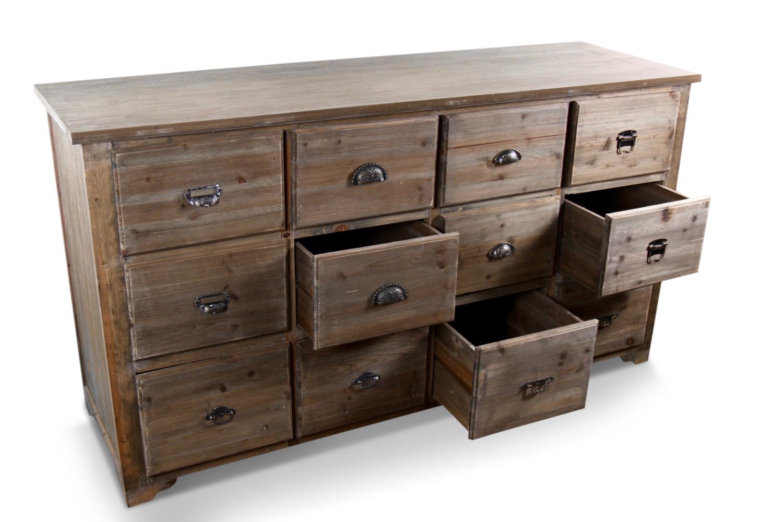 meuble semainier chiffonnier grainetier bois 12 tiroirs 167x54x91cm. Black Bedroom Furniture Sets. Home Design Ideas