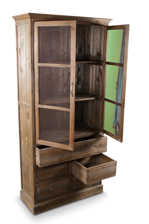 buffet vaisselier rangement bois 5 tiroirs nu 81x35x169cm. Black Bedroom Furniture Sets. Home Design Ideas