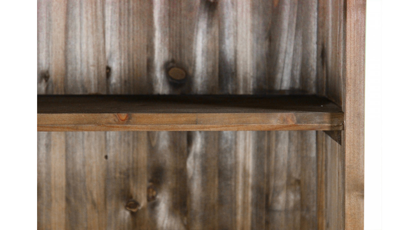 Buffet Vaisselier Rangement Bois 6 Tiroirs Nu 78x34x168cm