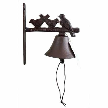 Cloche 3 Oiseaux Fonte