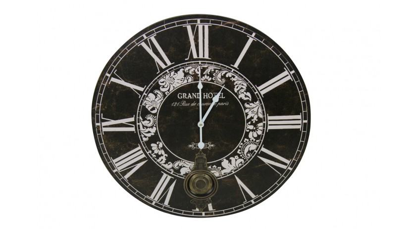 HORLOGE ANCIENNE BALANCIER GRAND HOTEL 58CM