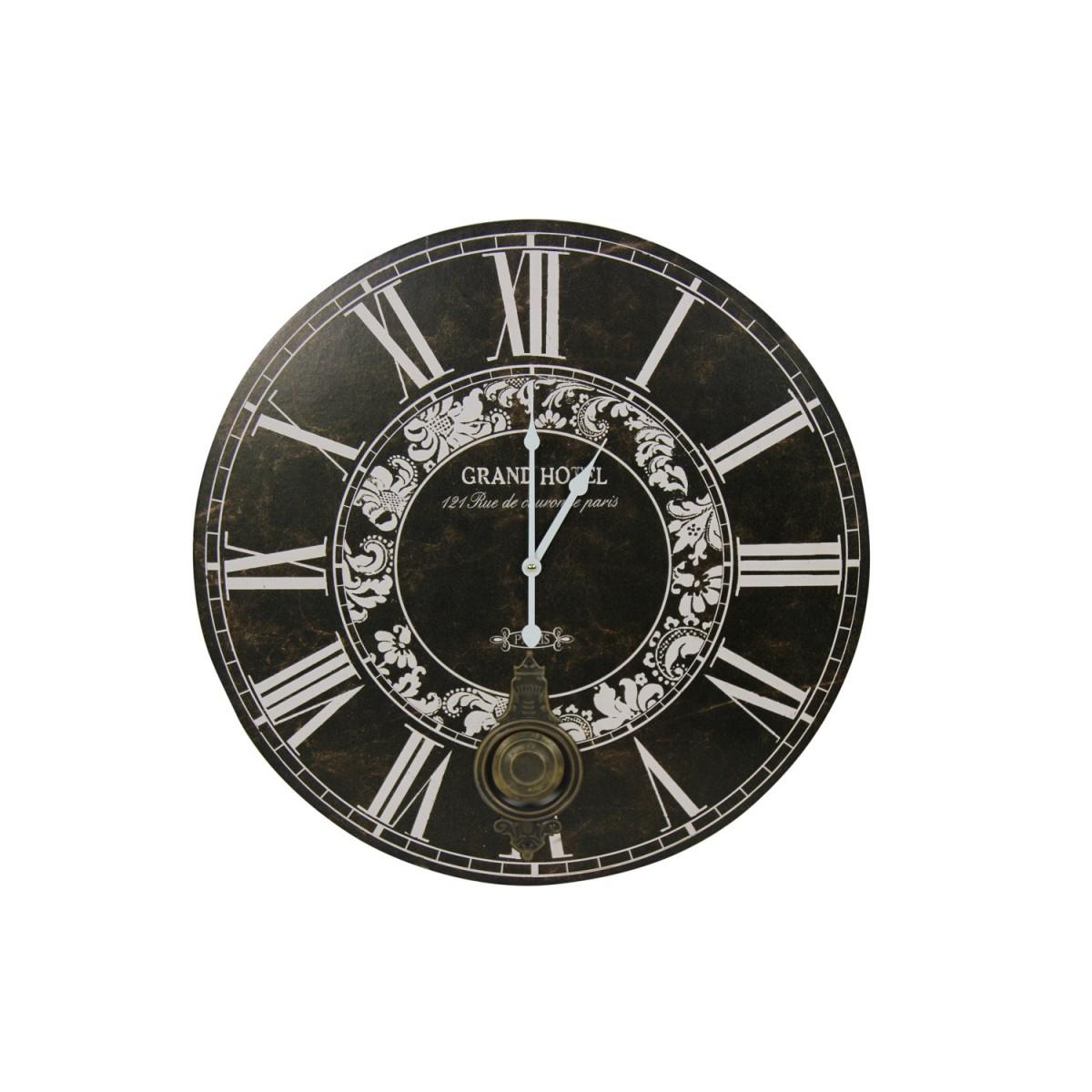 Horloge Ancienne Balancier Grand Hôtel 58cm