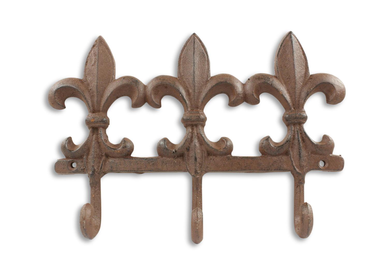 Porte Serviettes Accroche Fleur De Lys Fonte