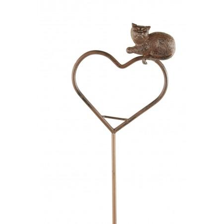 Pic Tuteur Coeur Chat 121cm