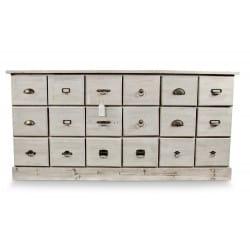meuble semainier chiffonnier grainetier bois 18 tiroirs 170x50x83cm. Black Bedroom Furniture Sets. Home Design Ideas