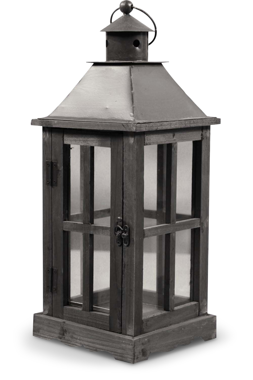Lanterne Bois 19x19x47cm