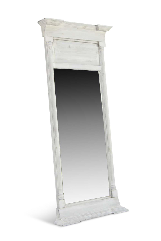Grand miroir ancien rectangulaire vertical bois ceruse for Grand miroir bois brut