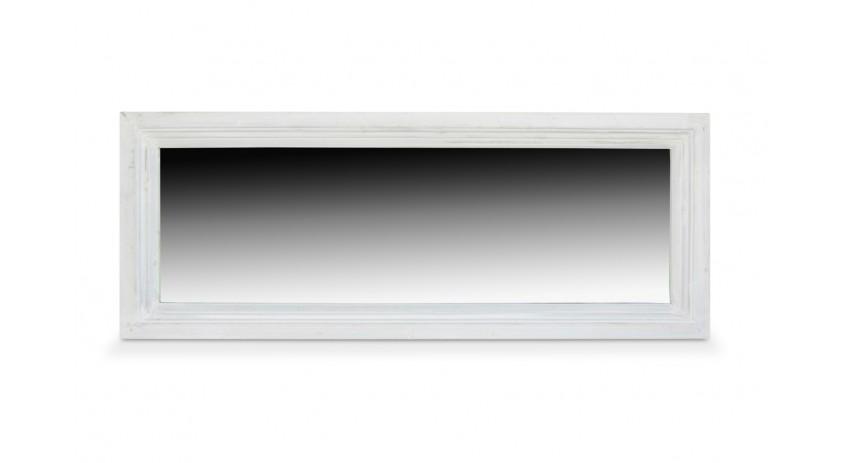 miroir ancien rectangulaire bois blanc ceruse. Black Bedroom Furniture Sets. Home Design Ideas