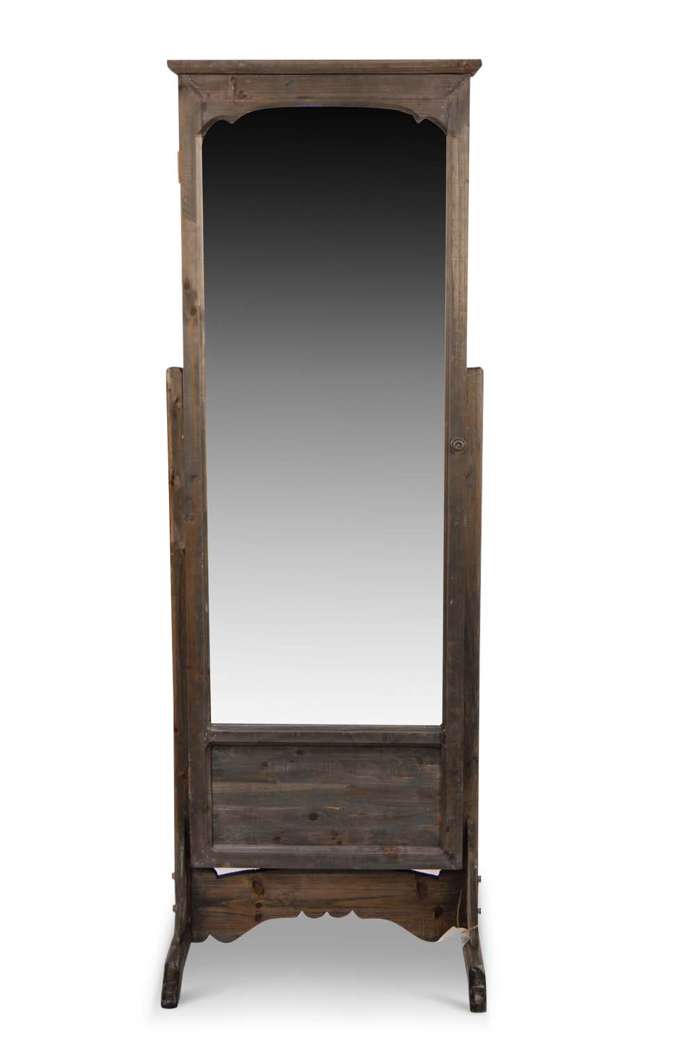 miroir ancien rectangulaire vertical sur pied bois. Black Bedroom Furniture Sets. Home Design Ideas