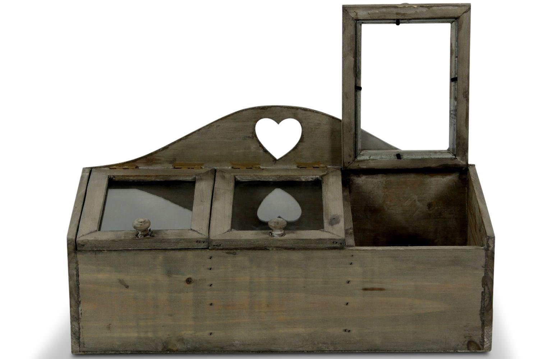 Boite Rangement Coeur 45x20x22cm