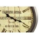 GRANDE HORLOGE MURALE JARDIN BOTANIQUE 70CM